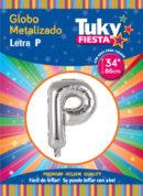 """34"""" LETRA P – Metalizado x 5 Unidades"""