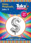 """34"""" LETRA S – Metalizado x 5 Unidades"""