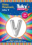"""34"""" LETRA V – Metalizado x 5 Unidades"""