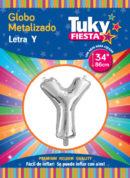 """34"""" LETRA Y – Metalizado x 5 Unidades"""