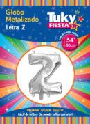 """34"""" LETRA Z – Metalizado x 5 Unidades"""
