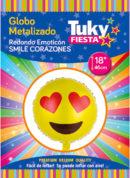 Emoji corazon 18″ Tuky Metalizado x 5 u.