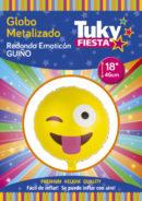 Emoji Guiño 18″ Tuky Metalizado x 5 u.