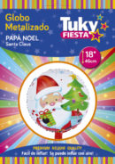Papa Noel 18″ Tuky Metalizado x 5 u.