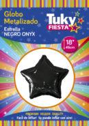 ESTRELLA Metalizada 18″ | Negro x 5 Unidades