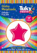 ESTRELLA Metalizada 18″ | Fucsia x 5 Unidades