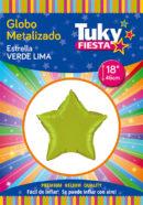 ESTRELLA Metalizada 18″ | Verde Lima x 5 Unidades