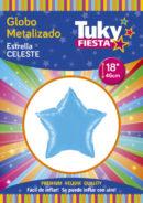 "ESTRELLA Metalizada 18"" | Celeste x 5 Unidades"