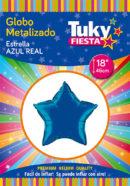 "ESTRELLA Metalizada 18"" | Azul x 5 Unidades"