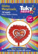Corazon Te Amo 24″ Tuky Metalizado