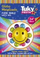 Flor Smile Arco Iris 34″ Tuky Metalizado x 5 u.