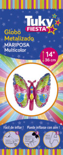 Animales | Mariposa 14″ Tuky Metalizado x 5 u.