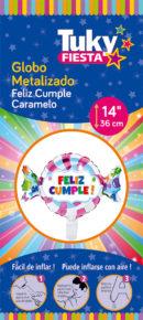 Candy Feliz Cumple – 14″ Tuky Metalizado x 5 u.