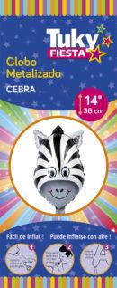 Animales | Cebra 14″ Tuky Metalizado x 5 u.