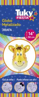 Animales | Jirafa 14″ Tuky Metalizado x 5 u.