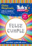 Frase Feliz Cumple – 14″ Tuky Metalizado x 5 u.