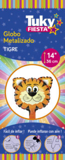 Animales | Tigre 14″ Tuky Metalizado x 5 u.
