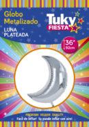 Luna Plata 36″ Tuky Metalizado x 5 u.