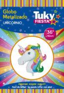 Animales | Unicornio 36″ Tuky Metalizado x 5 u.