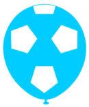 "FUTBOL GAJOS Impresion TOTAL   12"" COLOR CELESTE C/BLANCO"