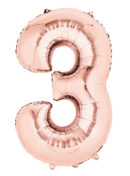 """40"""" Numero Rose Gold 3 – Metalizado x1 unidad"""
